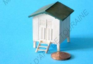 cabine de plage bois de la chaise noirmoutier trains. Black Bedroom Furniture Sets. Home Design Ideas