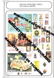 ASSORTIMENT D'AFFICHES 1959 I I